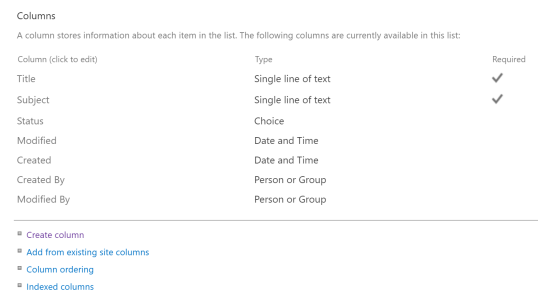 sharepoint list settings